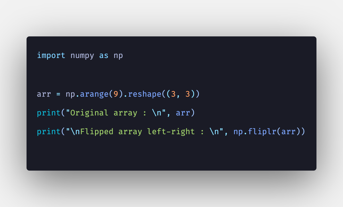 Numpy fliplr: How to use np fliplr() Function in Python