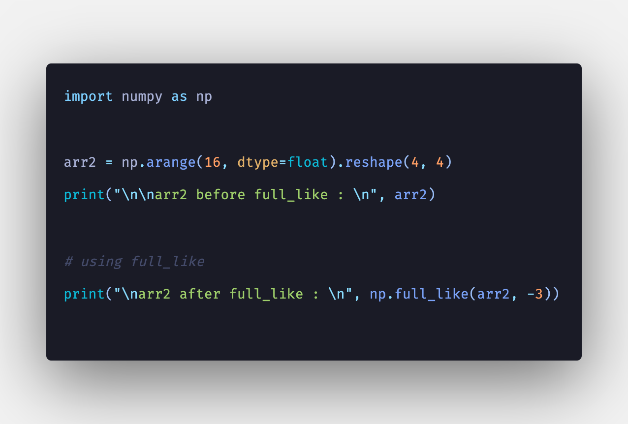 Numpy full_like: How to Use np full_like() Function