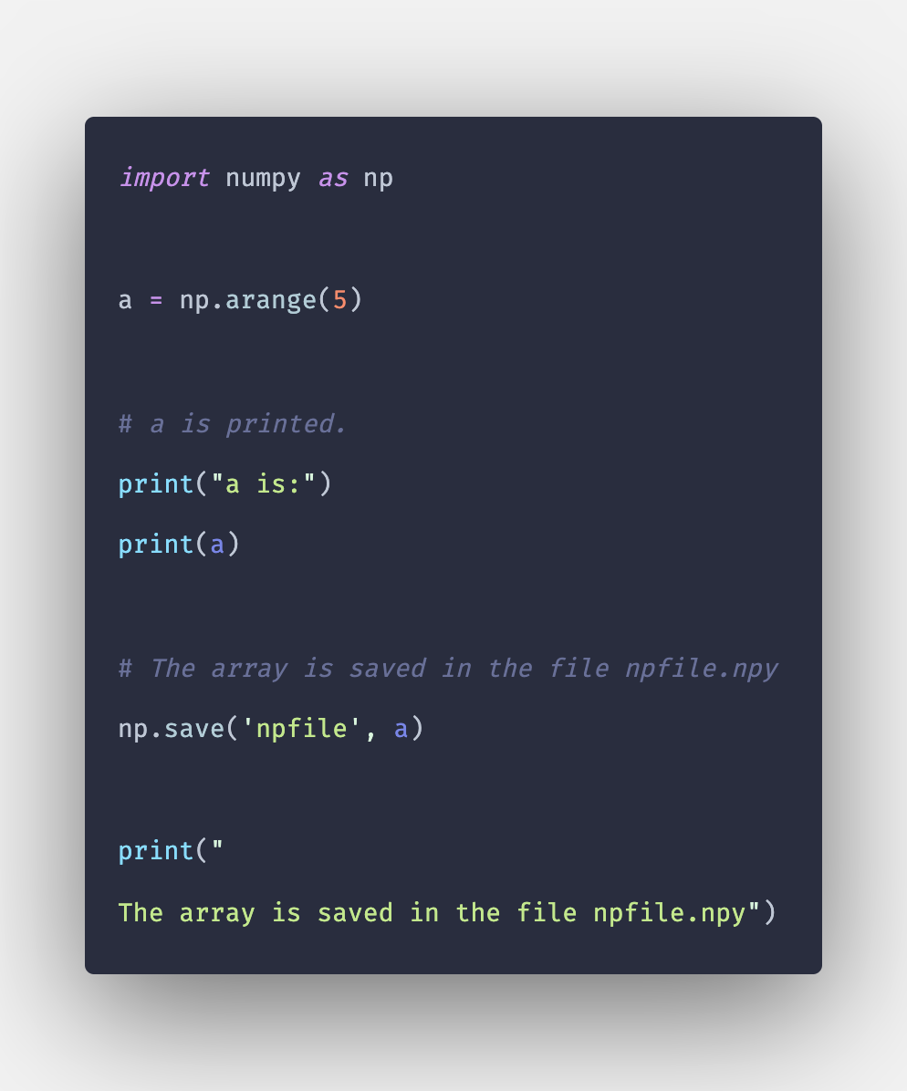 Np save   How To Save Numpy Array In .npy and .csv File