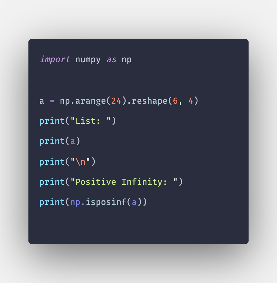 Numpy isposinf() Function in Python