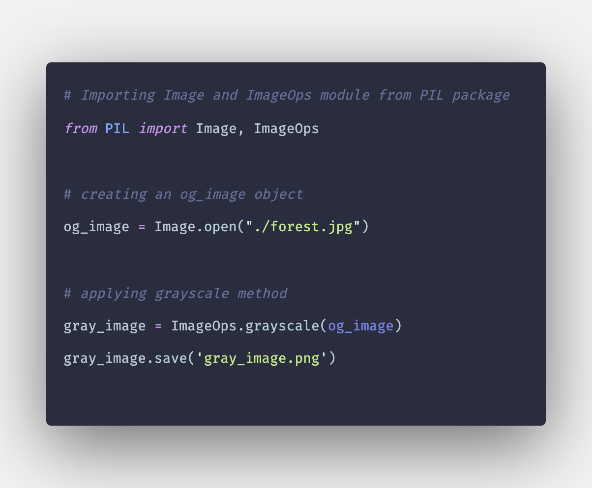 How To Convert PIL Image to Grayscale in Python