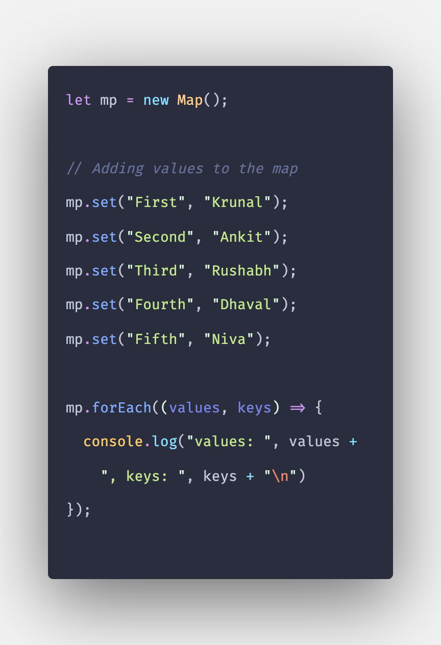 Javascript Map forEach() Method with Example