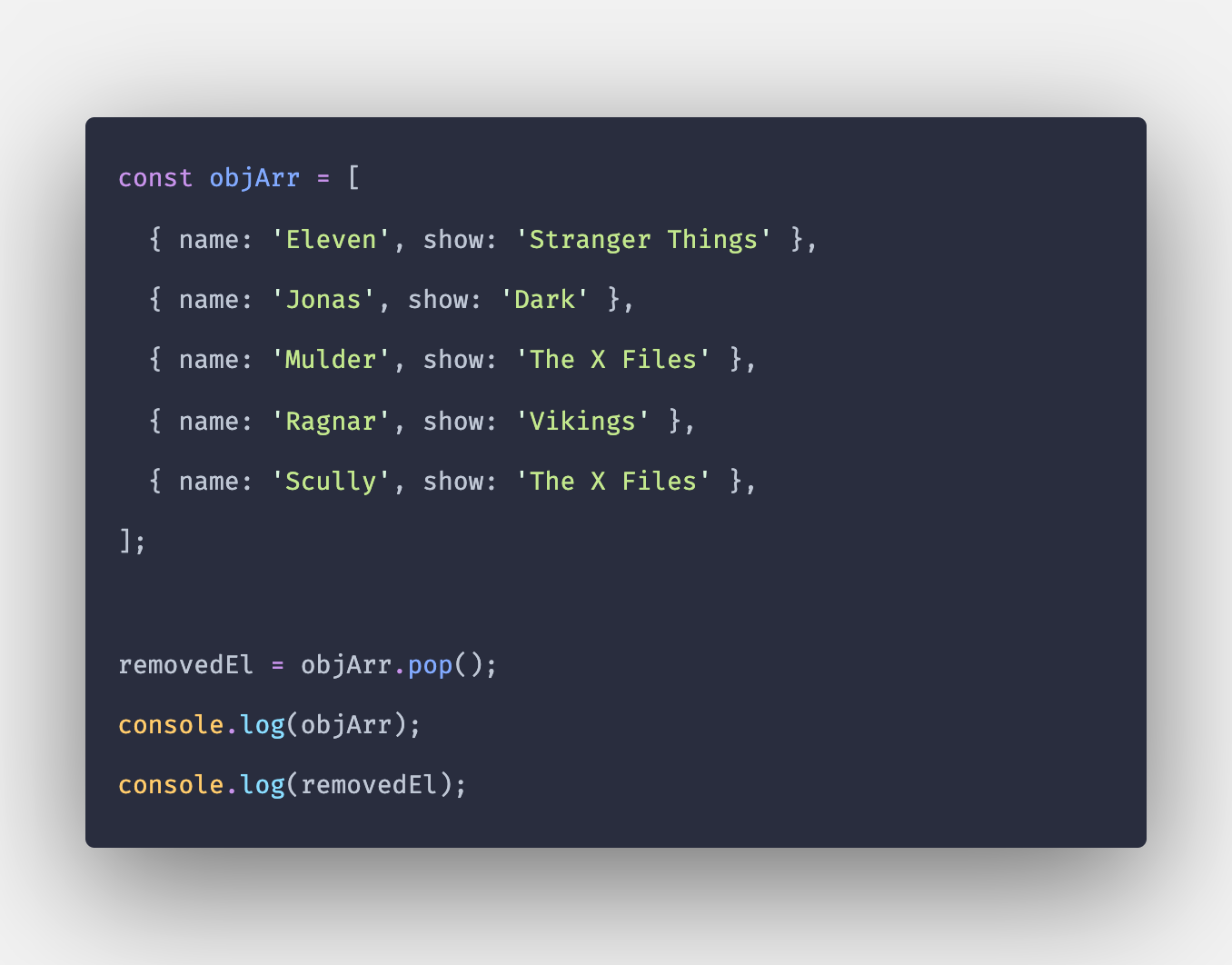 JavaScript: Remove Object From Array