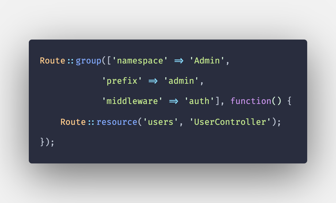 Laravel 8 Route Groups Example