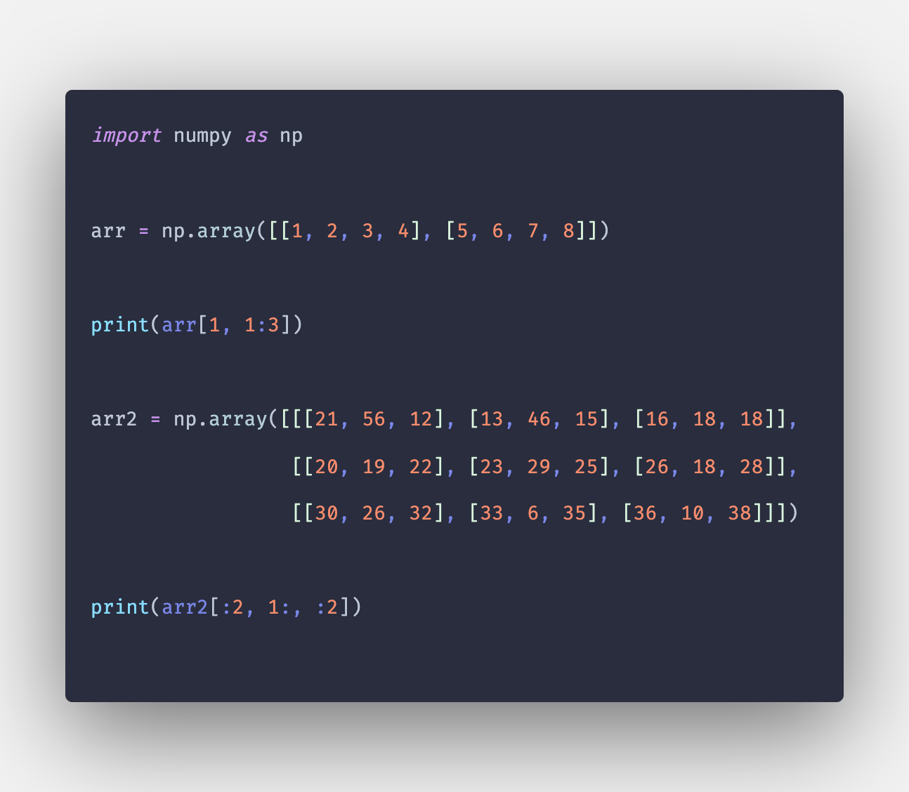 Numpy array slicing: How to Slice Numpy Array in Python