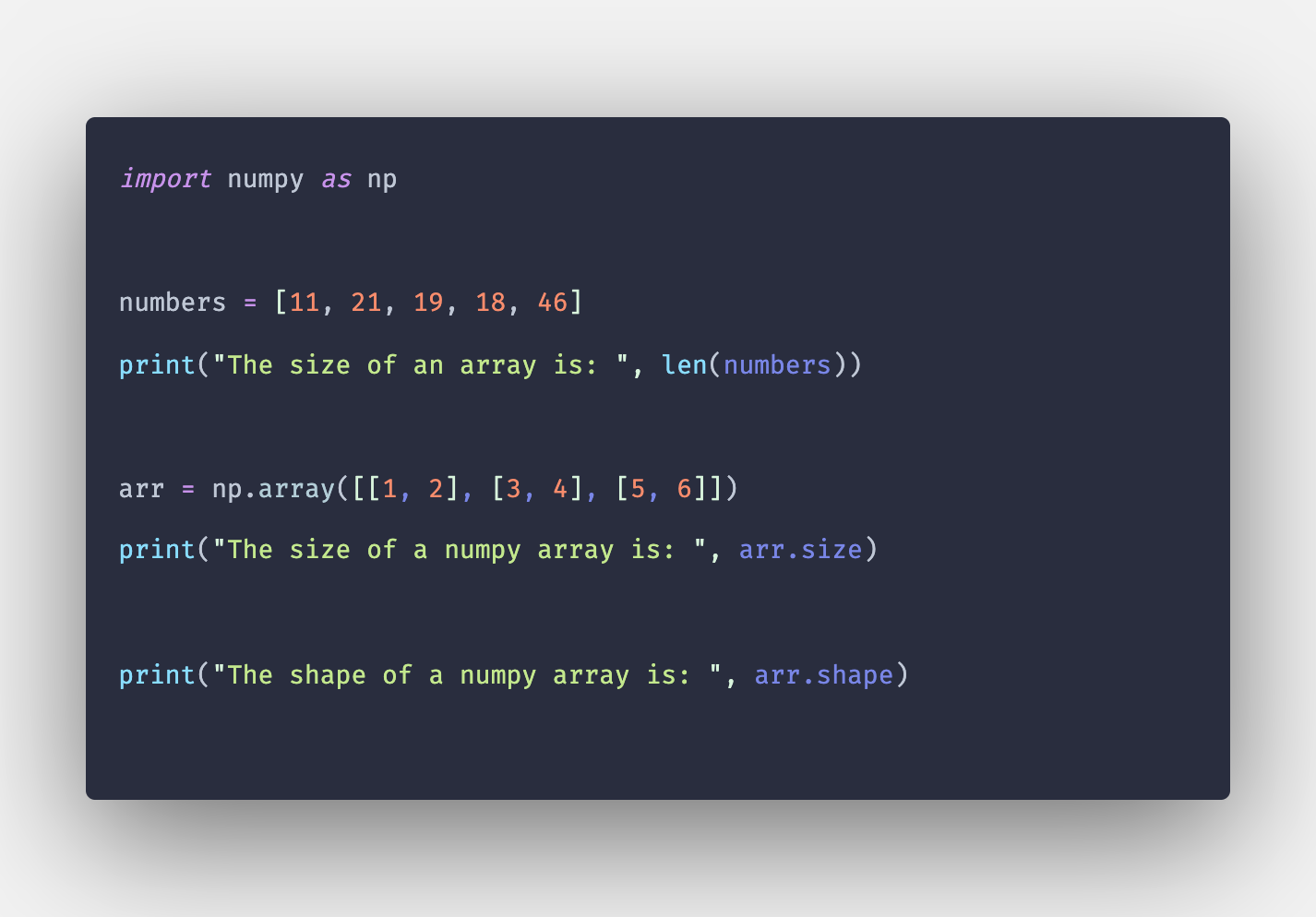 Python Array Size: How to Find Size of Array in Python