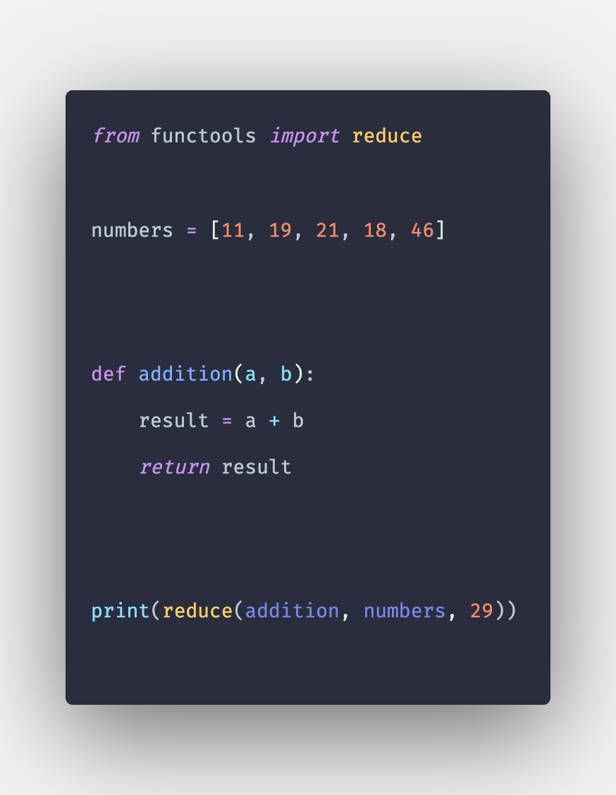 Python reduce() Function Explained with Example