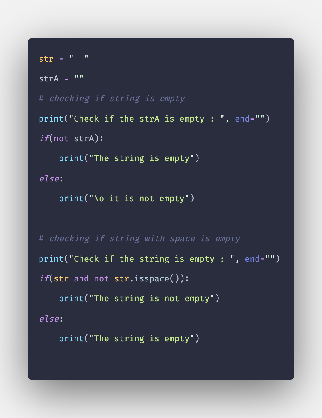 How to Check If String is Empty or Not in Python