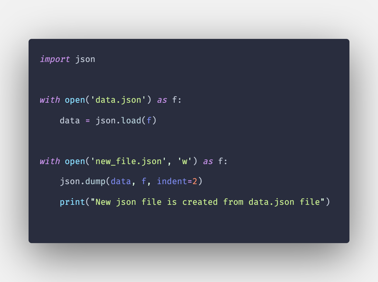 How to Create JSON File in Python