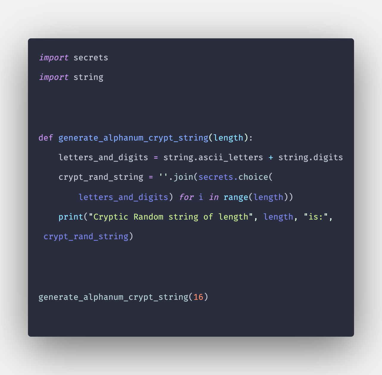 How to Generate Random String in Python