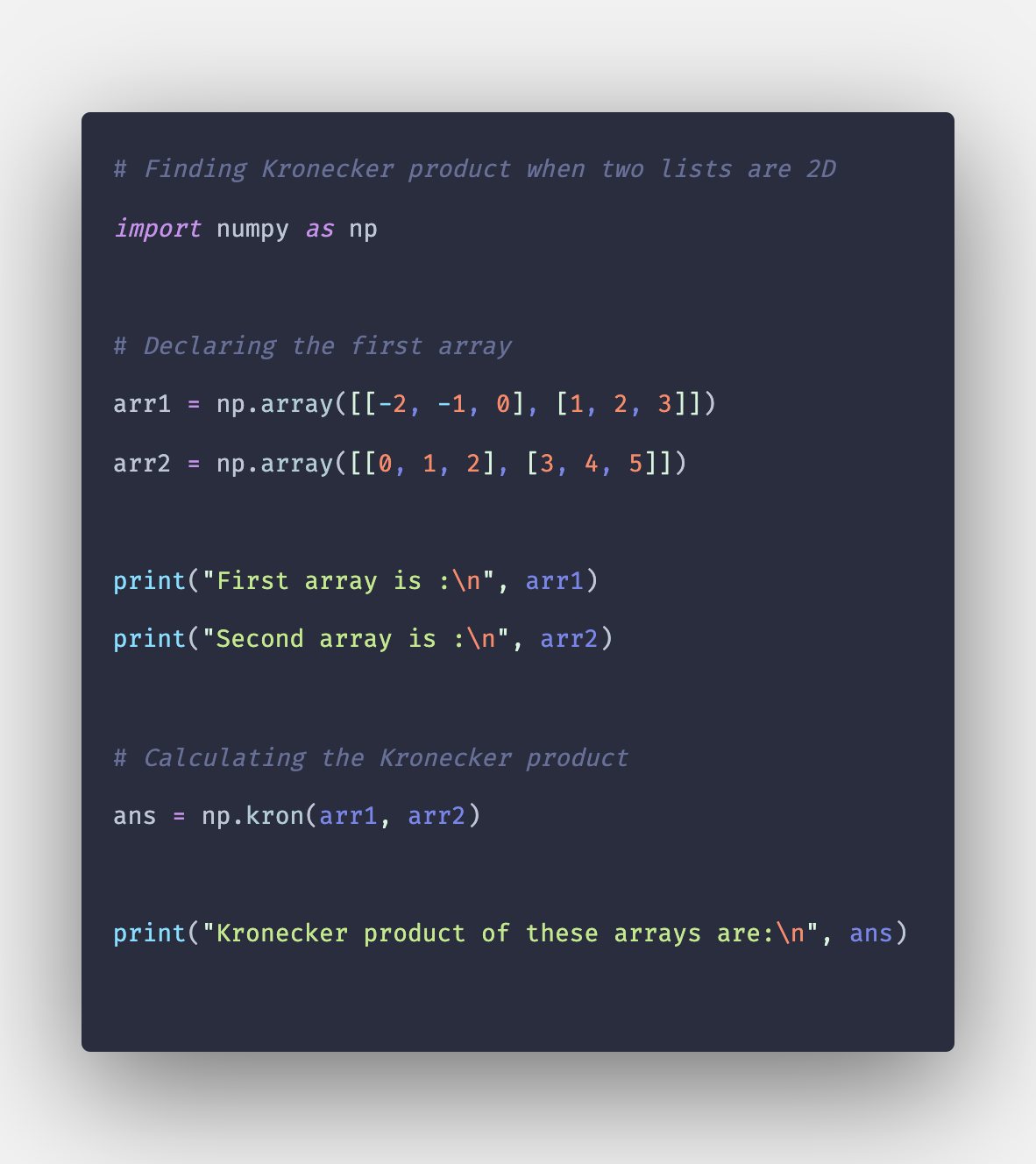 Numpy kron: How to Use np kron() Function